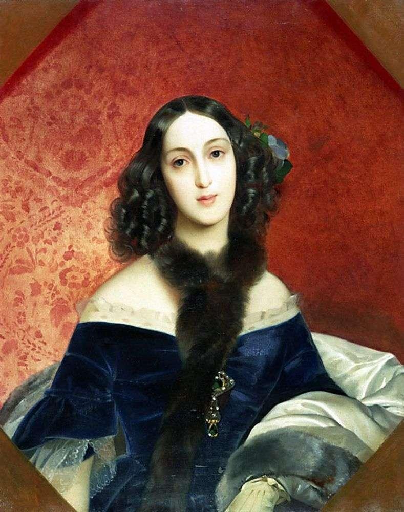 Portrait of MA Bek by Karl Bryullov
