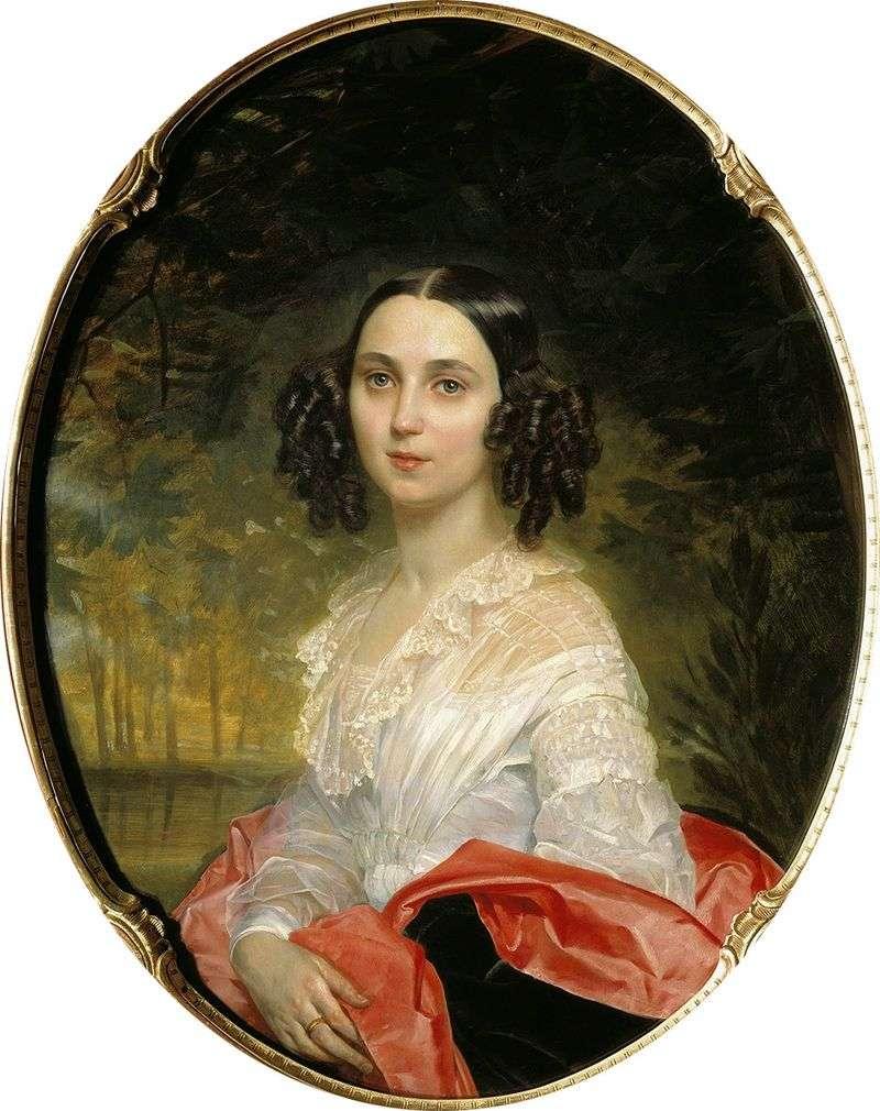 Portrait of MI Alekseeva by Karl Bryullov