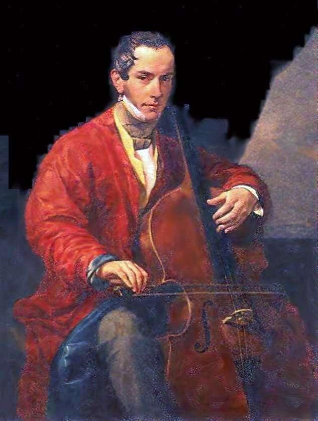 Portrait of musician M. Yu. Vielgorsky by Karl Bryullov