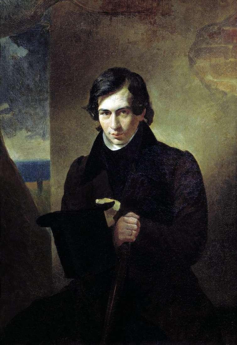 Portrait of N. V. Kukolnik by Karl Bryullov