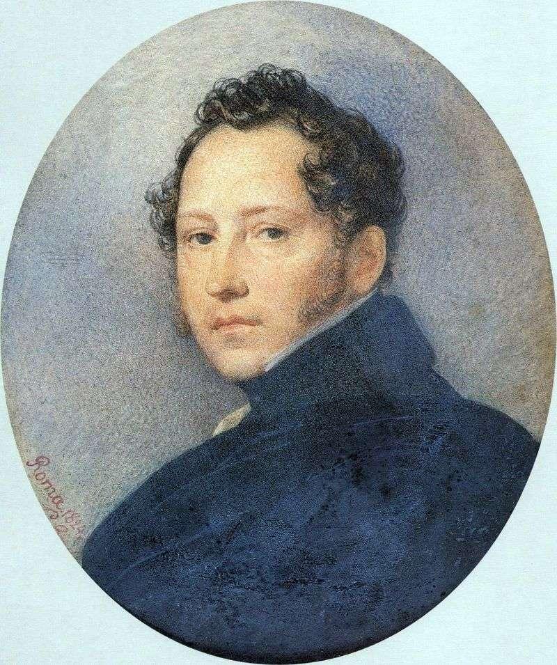 Portrait of S. F Shchedrin by Karl Bryullov
