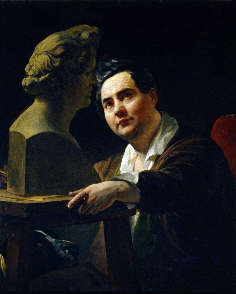 Portrait of the sculptor IP Vitali by Karl Bryullov