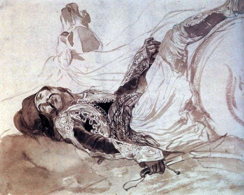 Wounded Greek, fallen from the horse by Karl Bryullov