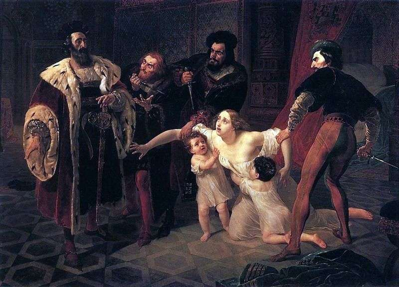 Death of Inessa de Castro by Karl Bryullov