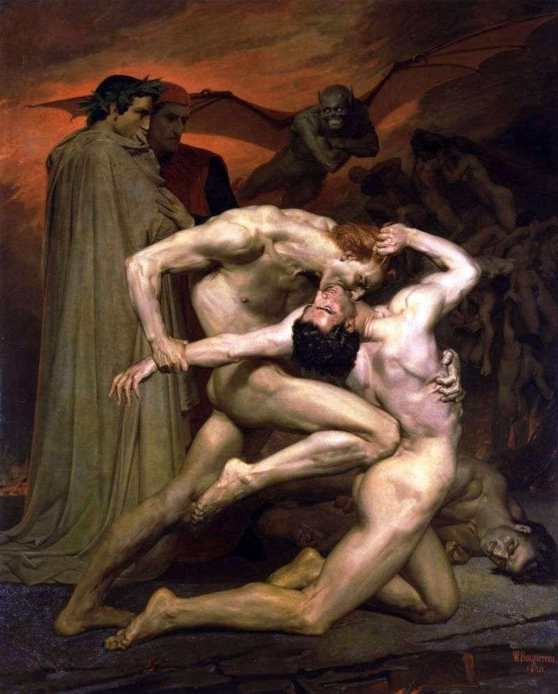 Dante and Virgil in Hell by Adolf Bugero