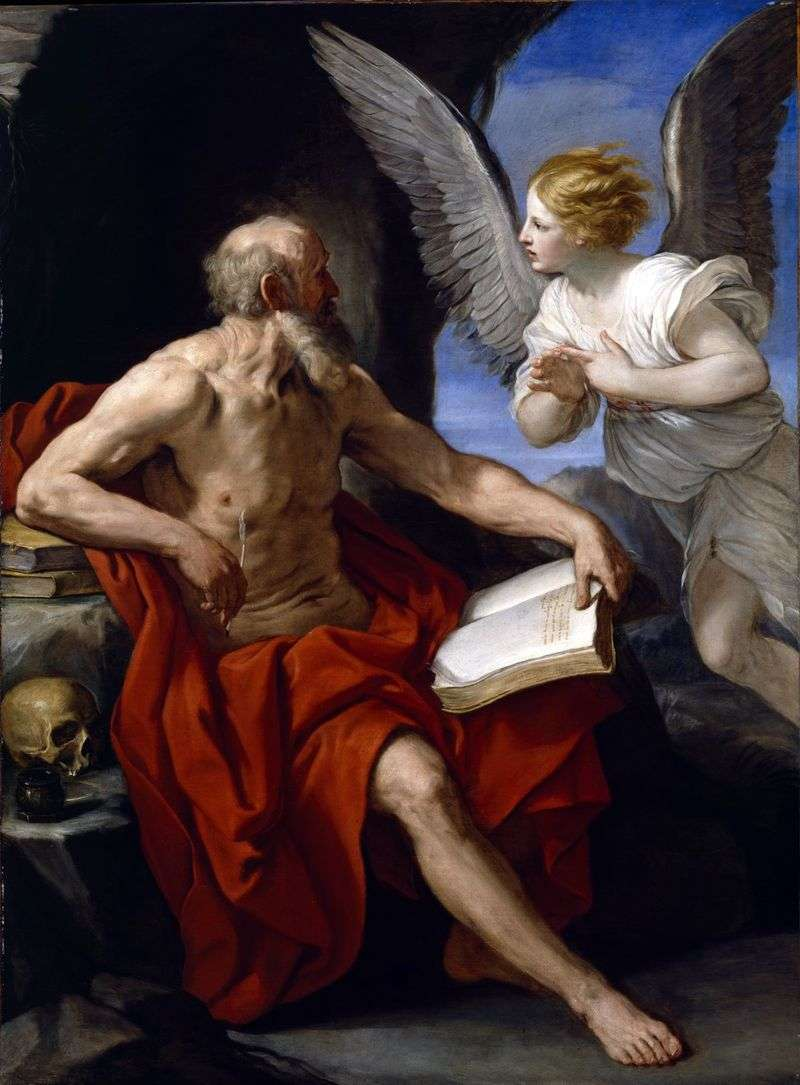 Saint Jerome and the Angel by Reni Guido
