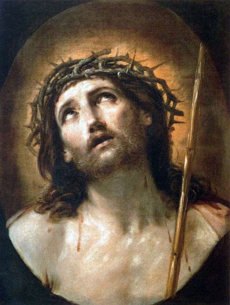 Christ in the crown of thorns by Reni Guido