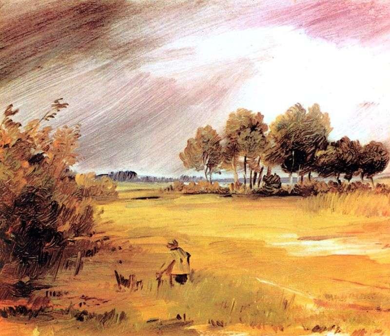 Landscape in the Rain by Wilhelm Busch