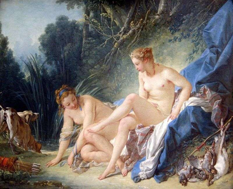 Bathing Diana by Francois Boucher