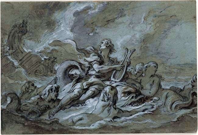 A sketch of Water by Francois Boucher