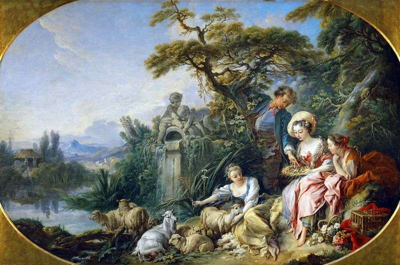 The Shepherdess by Francois Boucher