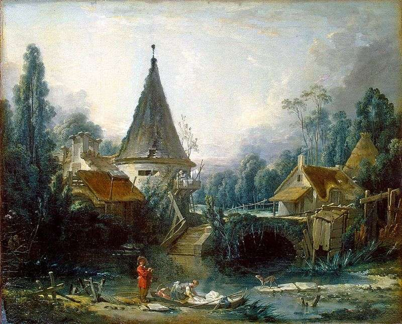 Landscape in the outskirts of Beauvais by Francois Boucher