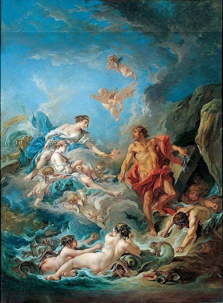 Juno visits the windmaster of Aeolus by Francois Boucher