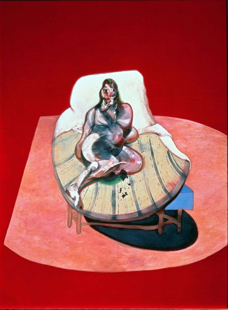 Henrietta Moraes in red by Francis Bacon