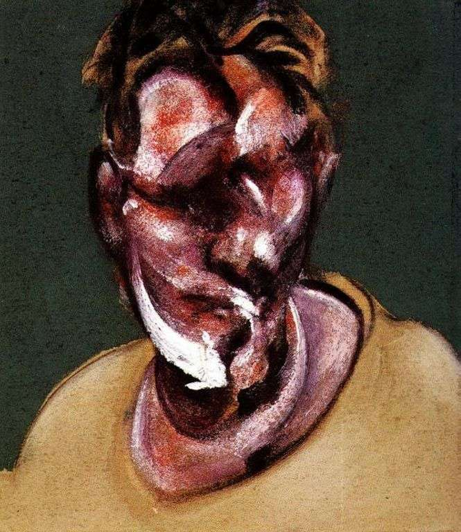 Portrait of Lucien Freud by Francis Bacon