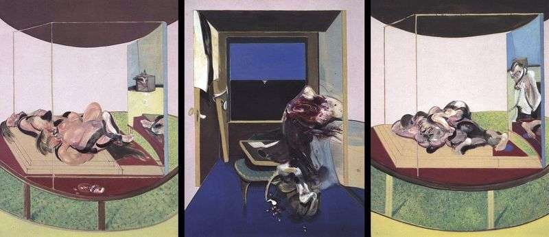 Triptych on the theme of TS Eliots poem by Francis Bacon