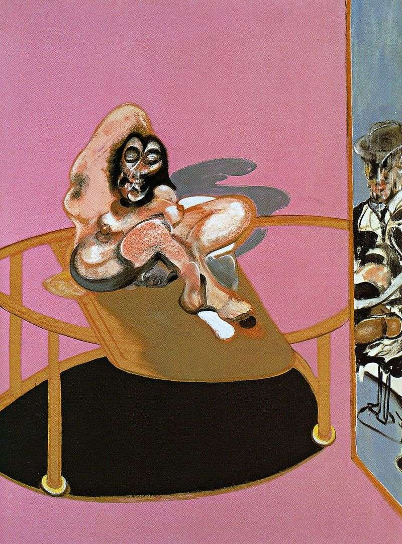 The figure in the mirror by Francis Bacon