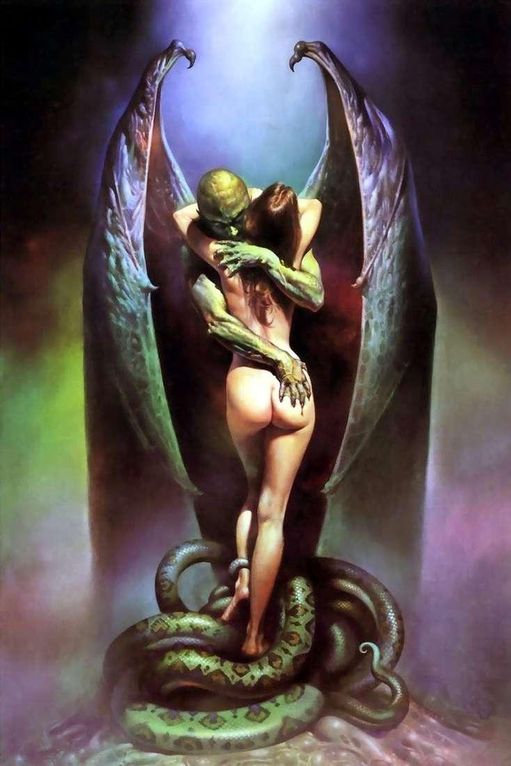 Kiss of the Vampire by Boris Vallejo