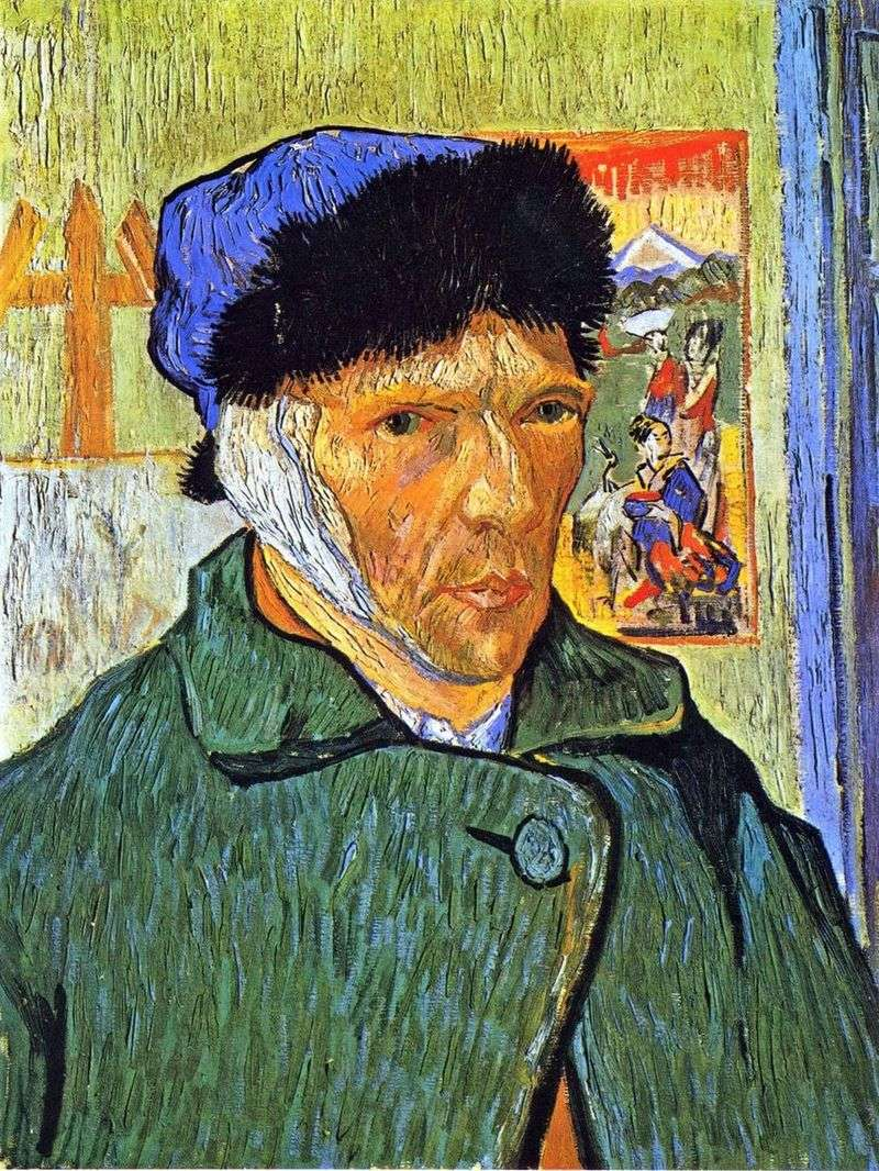 Self portrait with a bandaged ear by Vincent Van Gogh