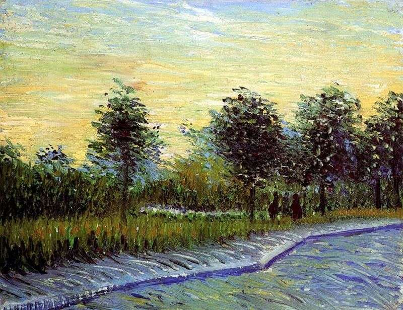 Alley in the Park dArgenson in Asnieres by Vincent Van Gogh