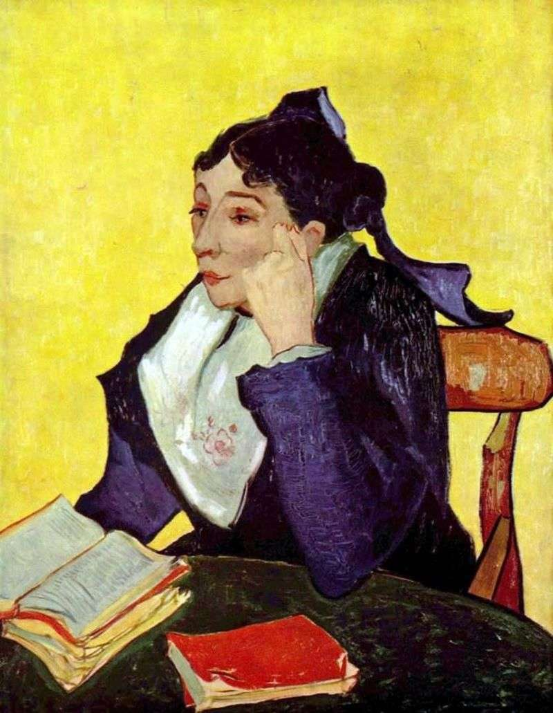 Arlesianka: Madame Zhinu with books by Vincent Van Gogh