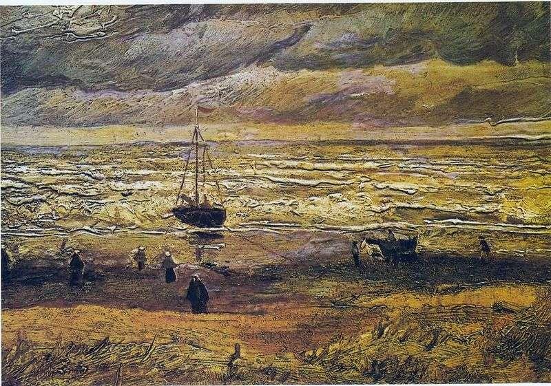 Sea view in Scheveningen by Vincent Van Gogh