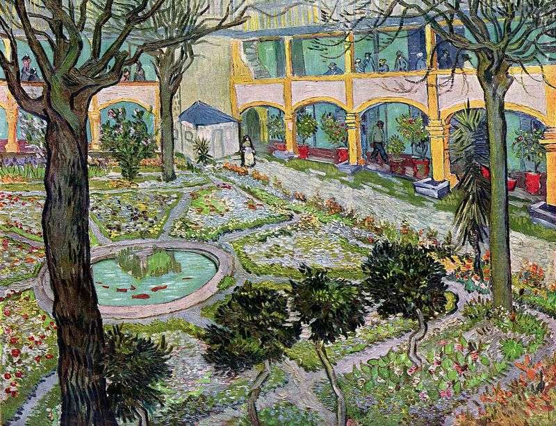 The courtyard of the hospital in Arly by Vincent Van Gogh
