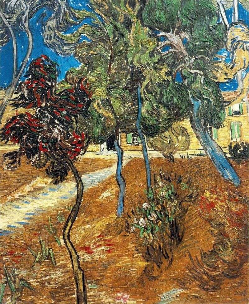 Trees in the Garden of St. Paul Hospital by Vincent Van Gogh