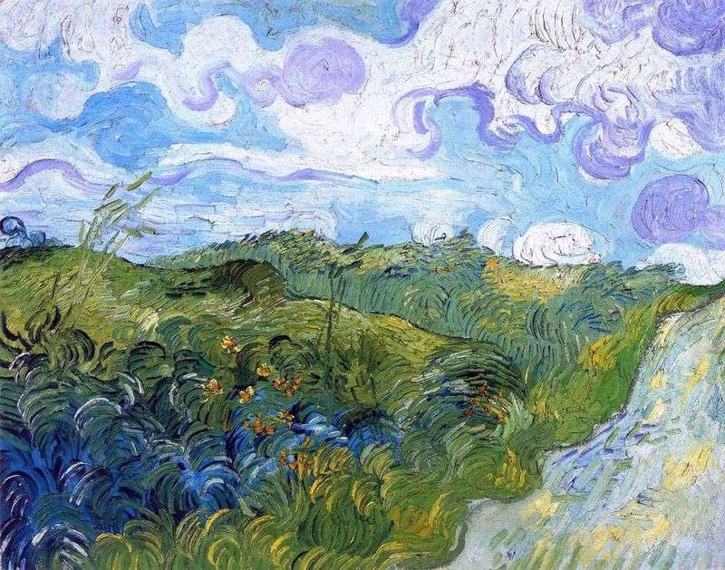 Green wheat fields by Vincent Van Gogh