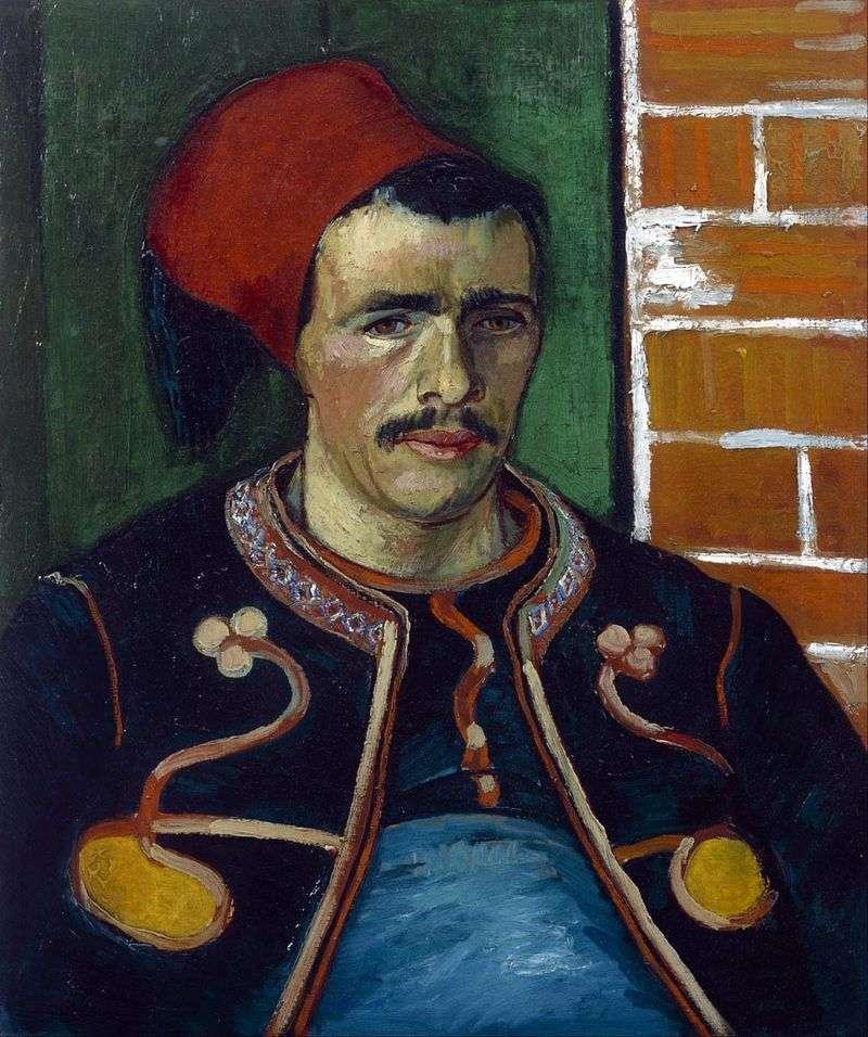 Zouav (Belt Portrait) by Vincent Van Gogh