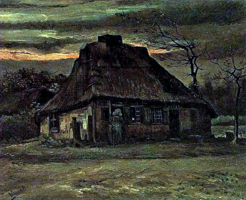 Hut by Vincent Van Gogh