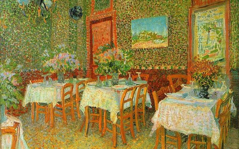Interior of the restaurant by Vincent van Gogh