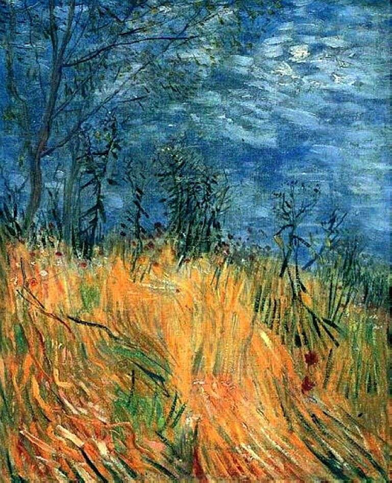 The edge of a wheat field with poppies by Vincent Van Gogh
