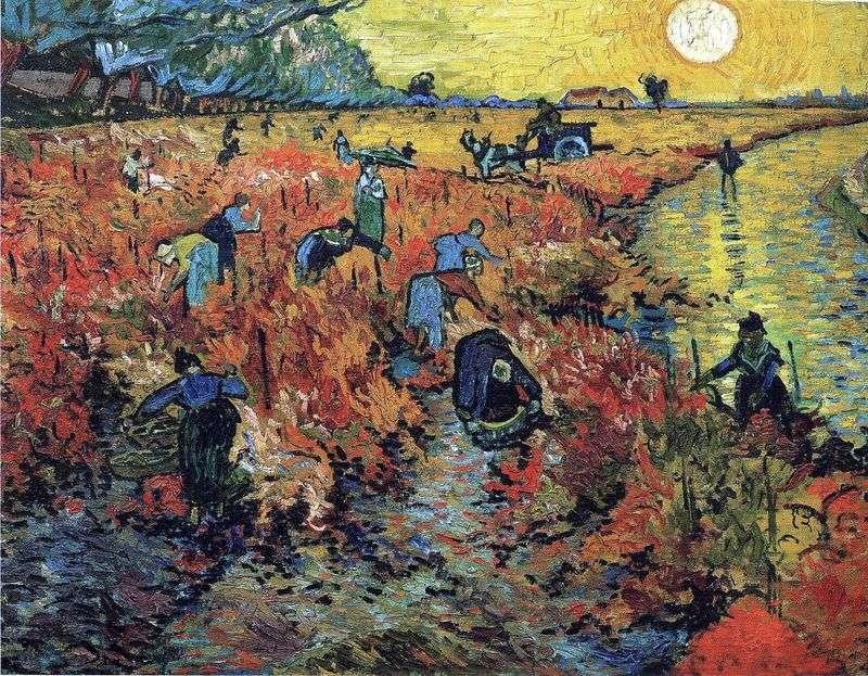 Red vineyards in Arles by Vincent Van Gogh