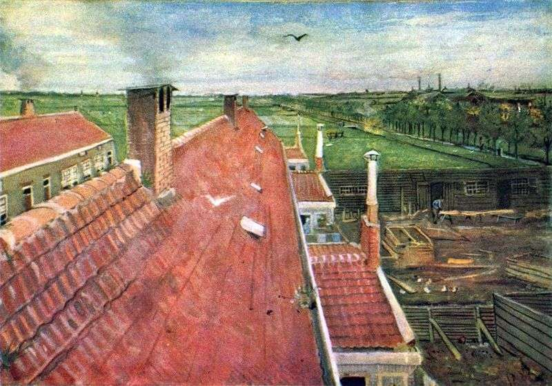 Roofs. View from the workshop by Vincent van Gogh