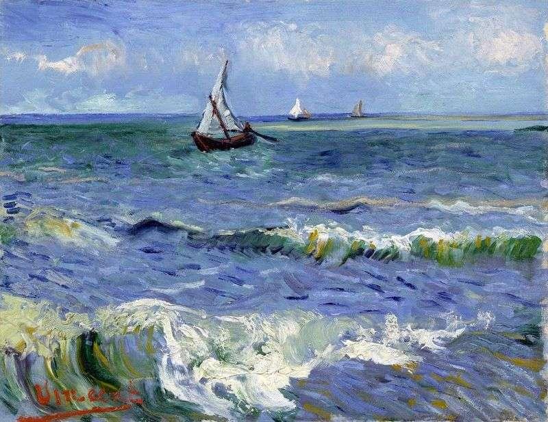 Boats at sea by Vincent van Gogh