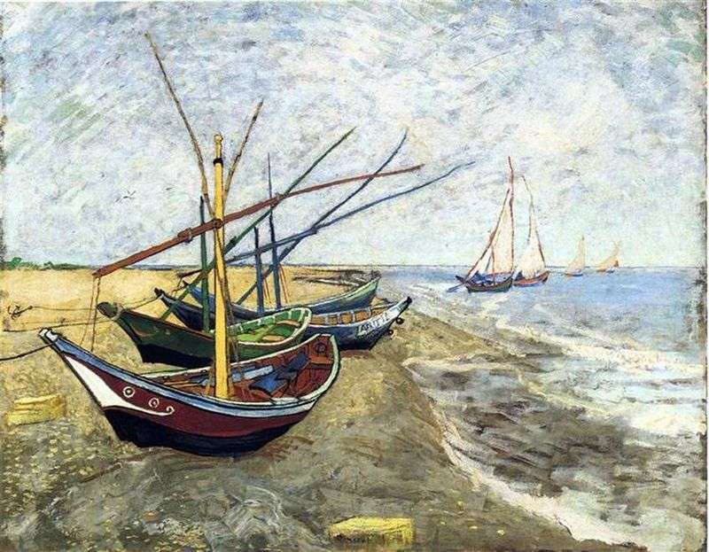 Boats in Saint Marie by Vincent Van Gogh