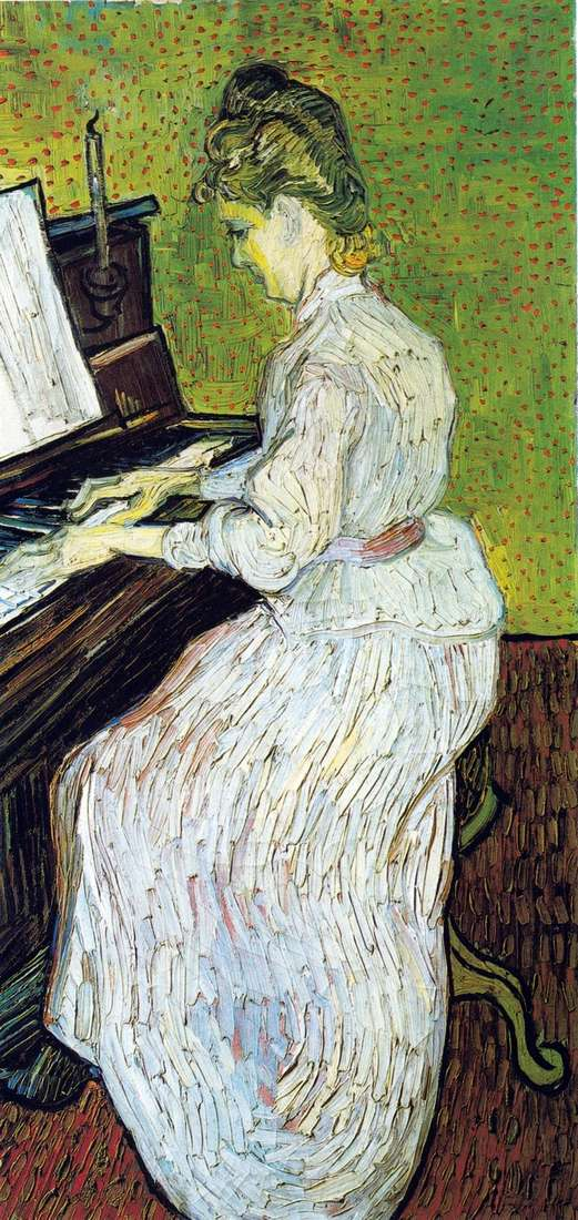 Margaret Gachet for the piano by Vincent Van Gogh