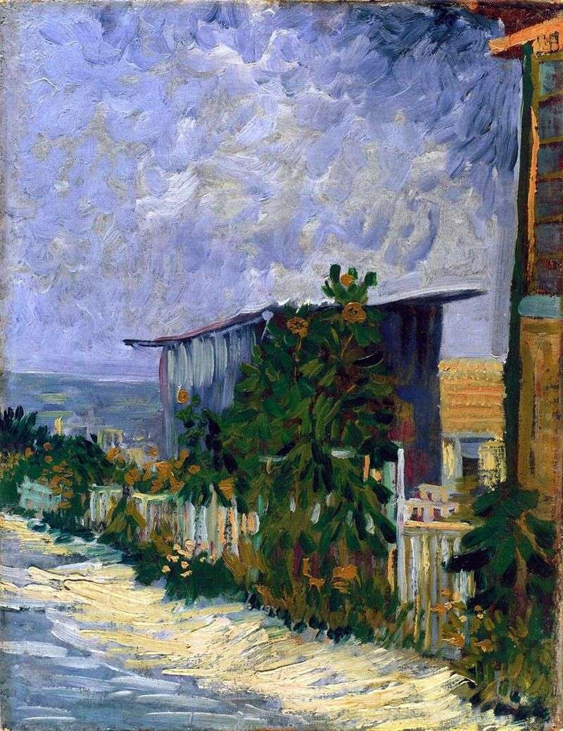 Montmartre, road with sunflowers by Vincent van Gogh
