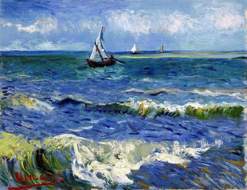 Seascape in Saint Marie by Vincent Van Gogh