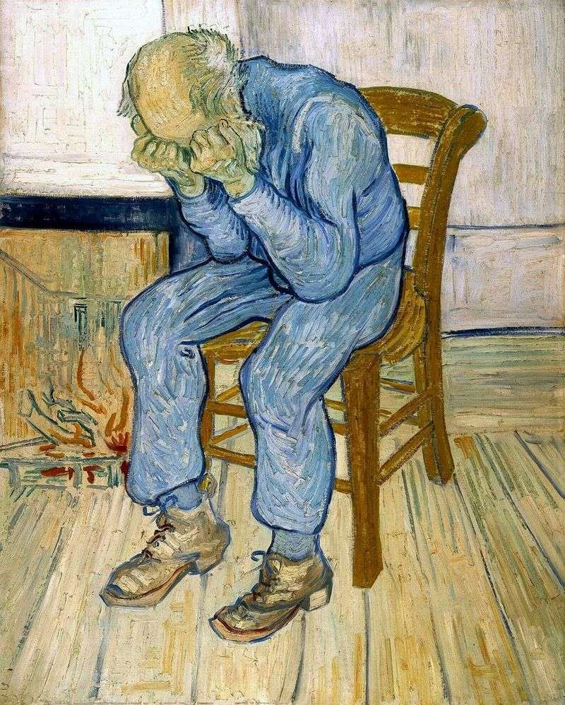 On the threshold of eternity by Vincent Van Gogh