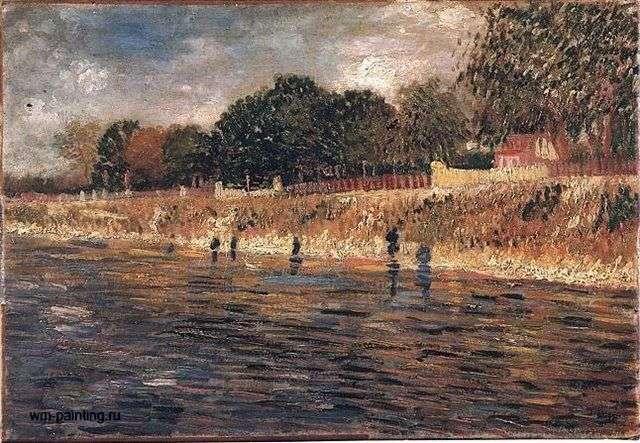 Seine embankment by Vincent Van Gogh