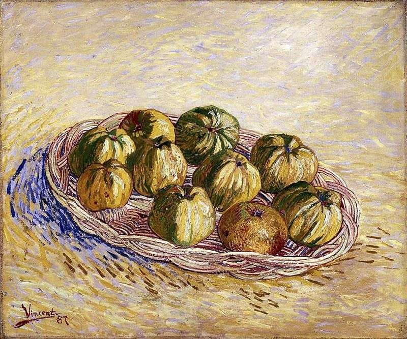 Still life with a basket of apples by Vincent Van Gogh