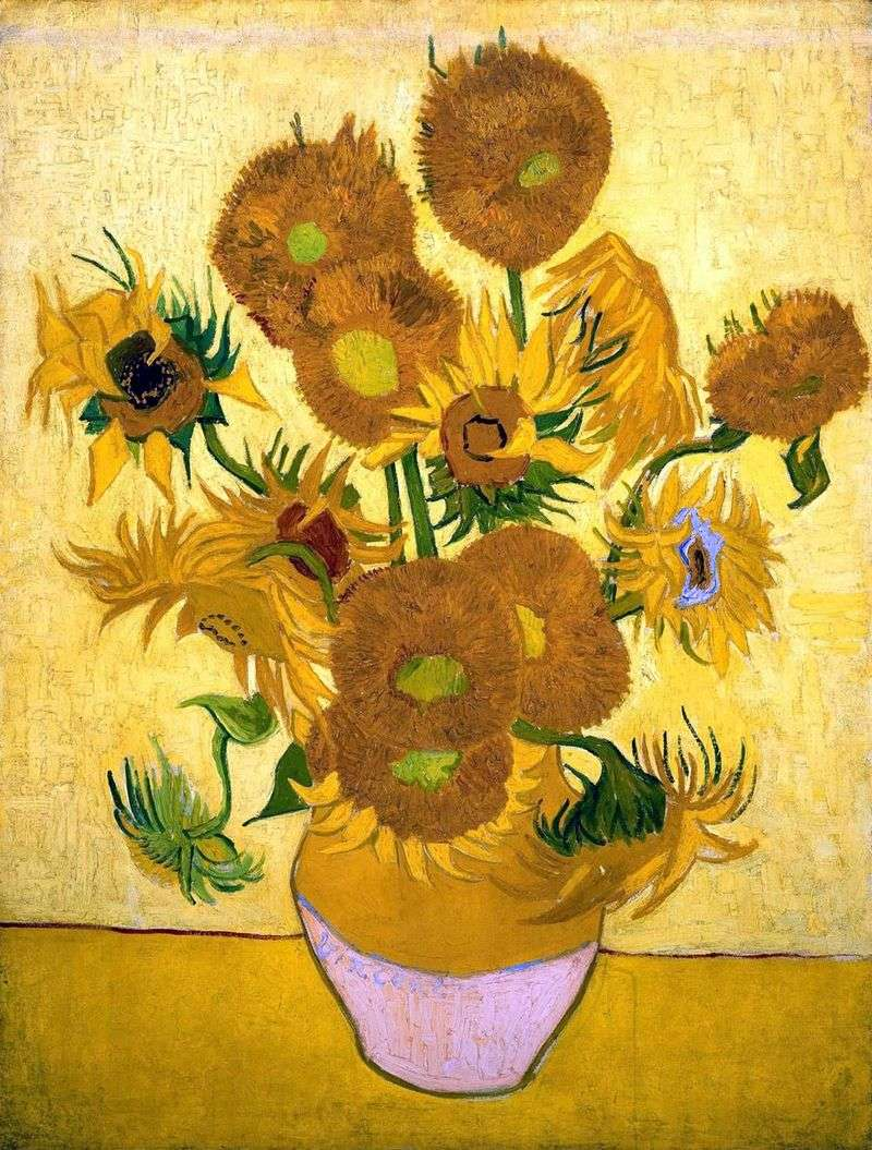 Still Life: Fifteen Sunflowers in a Vase by Vincent Van Gogh