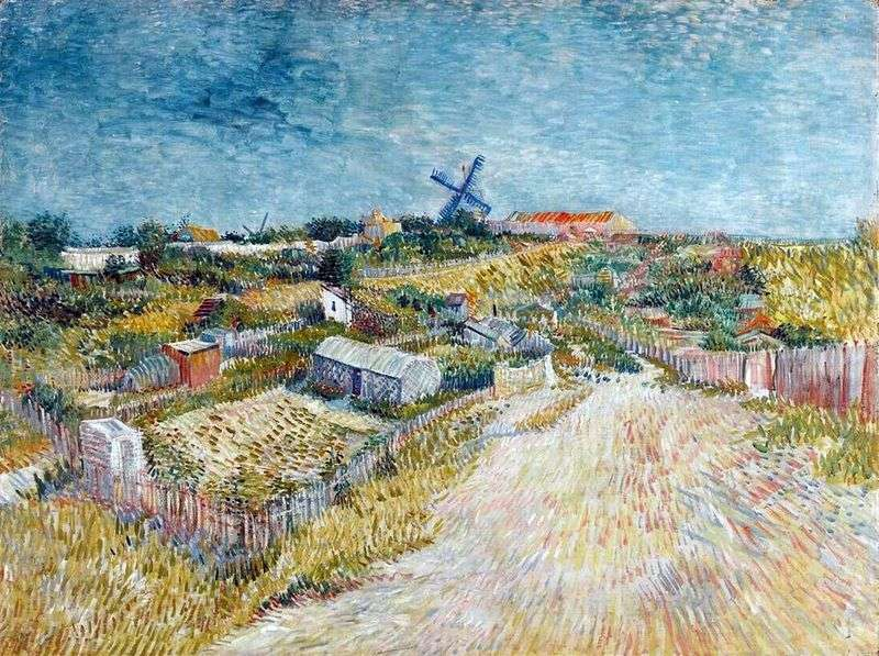 The Montmartre Cities at the Montmartre Hill by Vincent Van Gogh