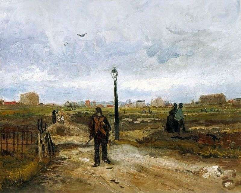 The Outskirts of Paris by Vincent Van Gogh