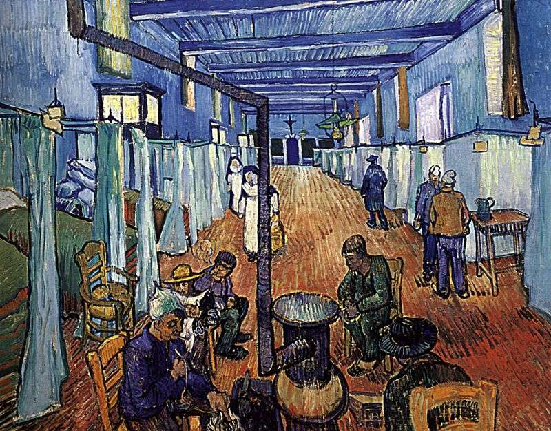 Chamber of the slippery hospital by Vincent Van Gogh