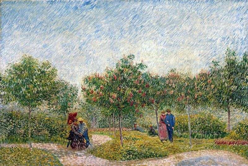 Couples in the Park dArgenson in Asnieres by Vincent Van Gogh