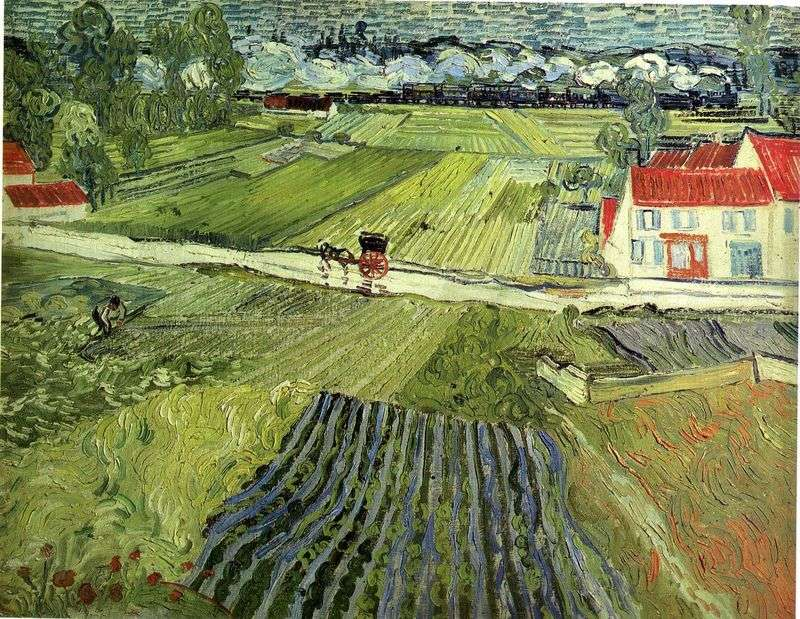 Landscape in the Over after rain by Vincent Van Gogh