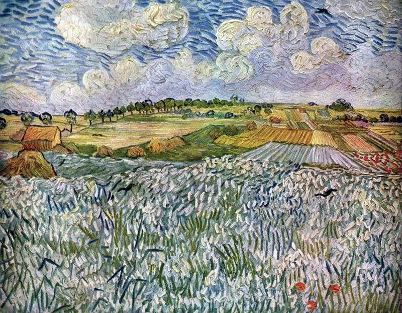 Landscape near the Over: wheat fields by Vincent Van Gogh